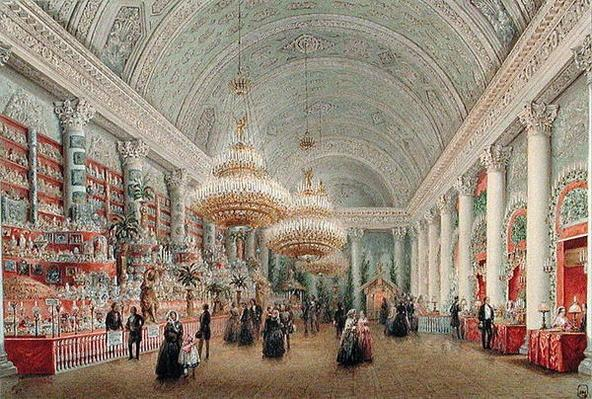 Charity Bazaar in the Banquet Chamber of the Yusupov Palace