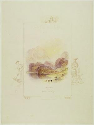 Design for an illustration for Walter Scott's 'Lady of the Lake', Loch Achray