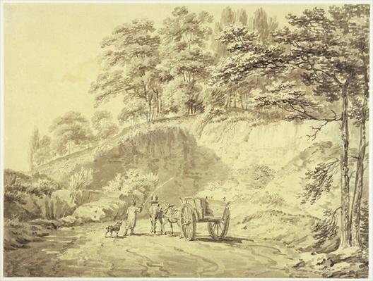 Man with Horse and Cart Entering a Quarry, c.1797