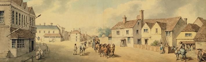 A Coach and Four Passing through Chippenham, Wiltshire