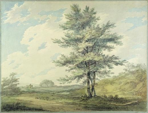 Landscape with Trees and Figures, c.1796