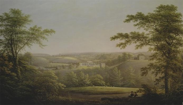 Easby Hall and Easby Abbey with Richmond, Yorkshire, in the Background, c.1790-1810