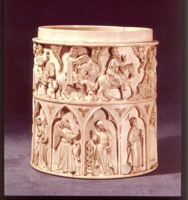 Eucharist pot depicting the Magi and the Annunciation, from Citeaux