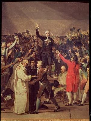 The Tennis Court Oath, 20th June 1789, detail of the group surrounding Bailly, 1791