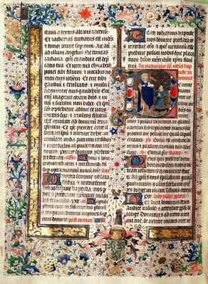 Ms 626 fol.174v St. John the Baptist, from the Missal of Jean de Lannoy