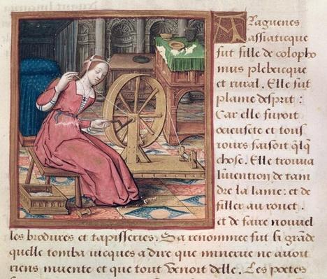 Ms 17 Arachne, from 'Vie des Femmes Celebres', c.1505