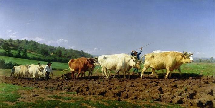 Ploughing in Nivernais, 1849