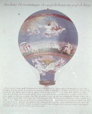 The Montgolfier Brothers' Balloon Experiment at Lyon, 19th January 1784, c.1784