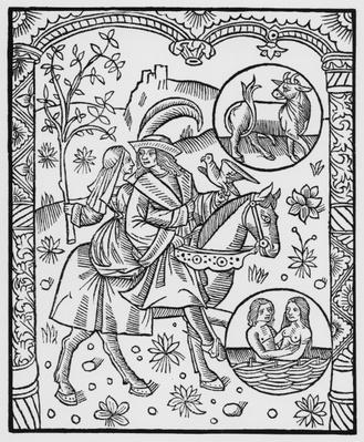 May, from the 'Almanach des Bergers', 1491