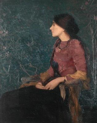 Seated Portrait of Thadee-Caroline Jacquet, later Madame Aman-Jean, before 1892