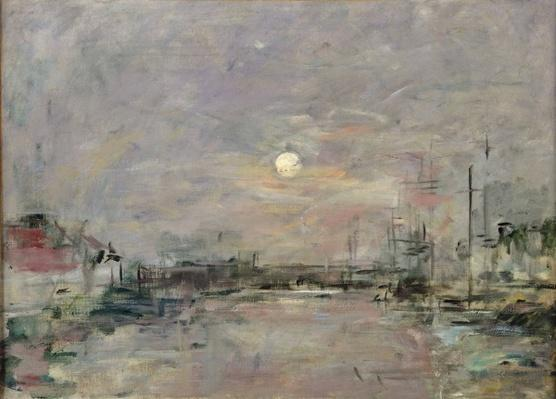 Dusk on the Commercial Dock at Le Havre, c.1892-94