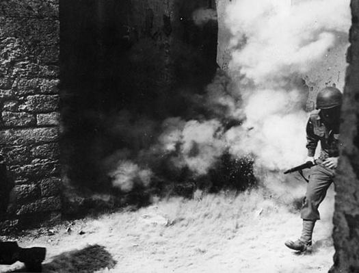 Troops Avoid a Mortar Blast Near Cassino | Ken Burns: The War