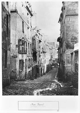 Rue Fresnel, from the dead end of Versailles, Paris, 1858-78