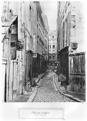 Rue des Anglais, from Boulevard Saint-Germain, Paris, 1858-78