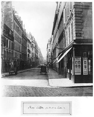 Rue Laffitte, from the church Notre-Dame-de-Lorette, Paris, 1858-78