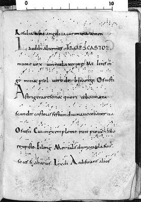 Ms. 17 fol. 289 Introit for the feast of St. Castor, from 'Troparium Aptense'