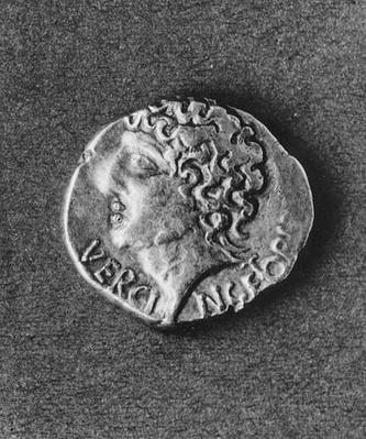 Coin bearing the effigy of Vercingetorix