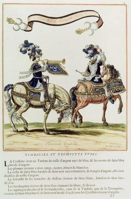Turkish Drummer and Trumpeter, part of the Carousel Given by Louis XIV