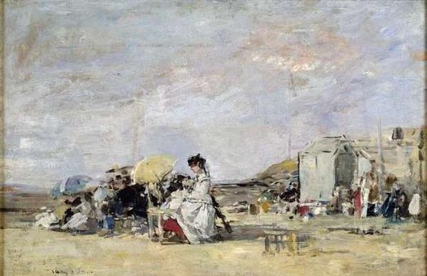Woman in White on the Beach at Trouville, 1869