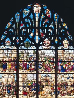 Window depicting Scenes from the Lives of St. Stephen and St. Lawrence, from the Chapelle Bonne-Mort