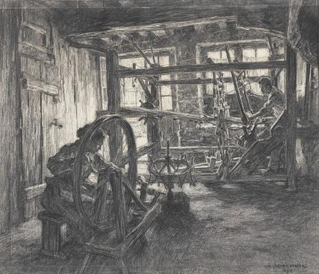 The Weaver's Workshop at Dinan or, The Weaver and his Wife, 1893