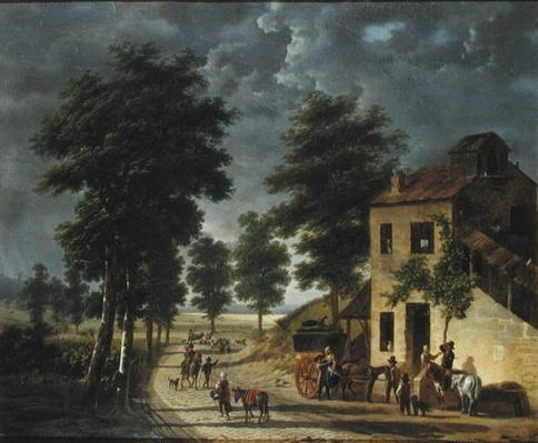 The Coeur Volant Coaching Inn at Louveciennes, 1867