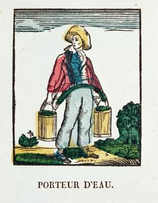 The Water Carrier, plate 220 from 'Les Petits Metiers'
