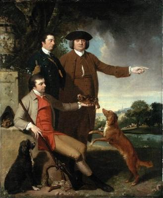 Self Portrait with Father and Brother, c.1760-62