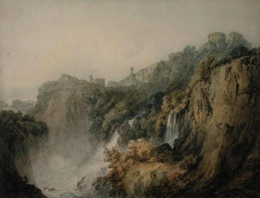 Tivoli with the Temple of the Sibyl and the Cascades, c.1796-97