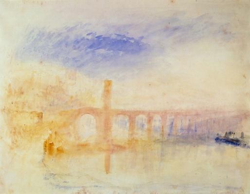 The Moselle Bridge, Coblenz, c.1842
