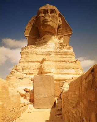 The Sphinx, dating from the reign of King Chephren, Old Kingdom and the dream stele of Tuthmosis IV