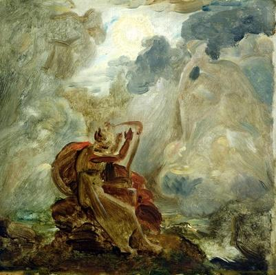 Ossian Conjures Up the Spirits with His Harp on the Banks of the River of Lora, c.1811
