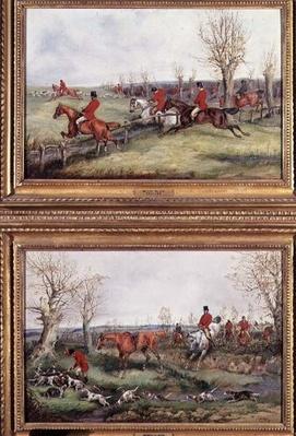 Pair of Hunting Scenes, 19th century