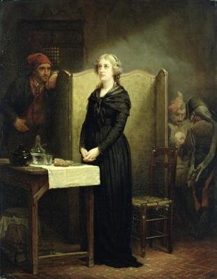 Queen Marie Antoinette in the Conciergerie: The Prayer Table, 1856-57