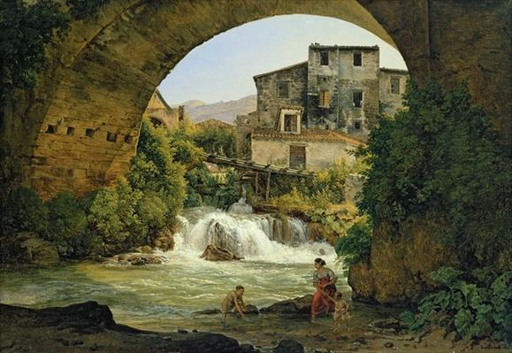 Under the arch of a bridge in Italy, 1822