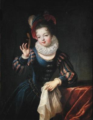 Young Girl with a Mask