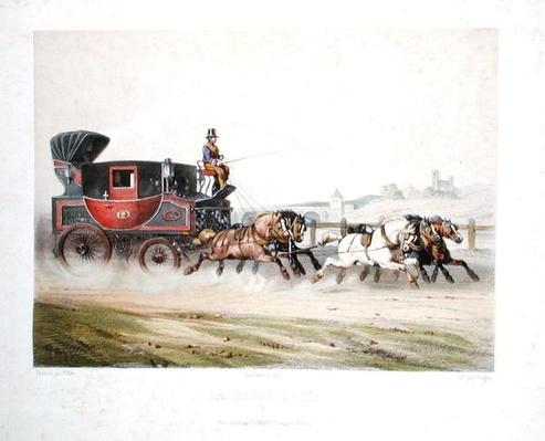 The Mail Coach, engraved by Charles Bargue