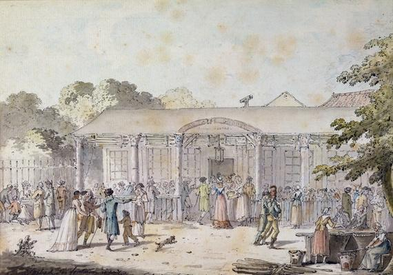 The Cafe Goddet, Boulevard du Temple, at the Time of the Consulat, 1799-1804