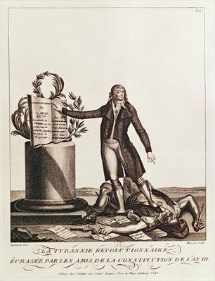 The Tyrant of the Revolution Crushed by the Supporters of the Constitution of An III