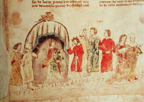 King Arthur and his Court, from the Roman de Meliadus