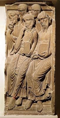 Relief depicting apostles, from the Abbaye de Saint-Guilhem du Desert