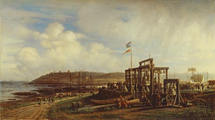 Bell Stalls at a Market in Nizhny Novgorod, 1862