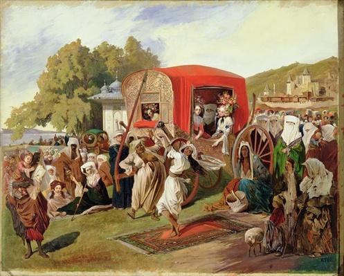 Outdoor Fete in Turkey, c.1830-60