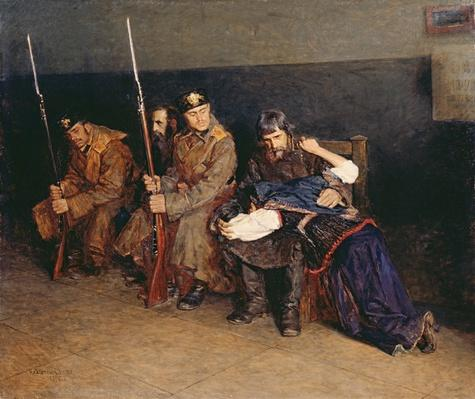 In the Corridor of the District Court, 1897