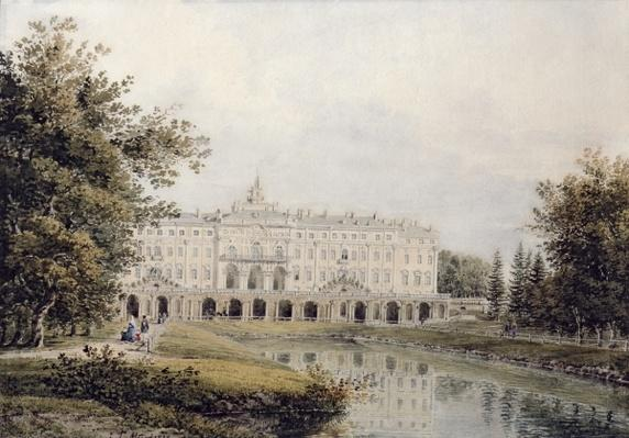 View of the Great Palace of Strelna near St. Petersburg, 1841
