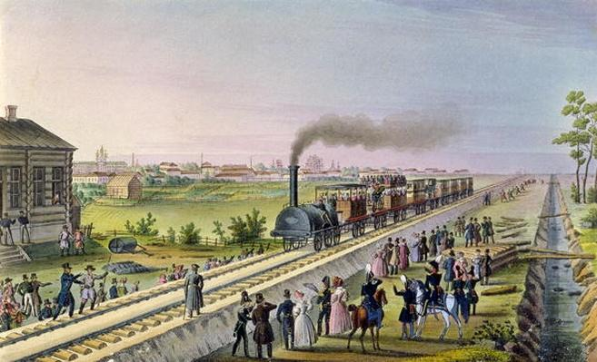 Opening of the First Railway Line from Tsarskoe Selo to Pavlovsk in 1837