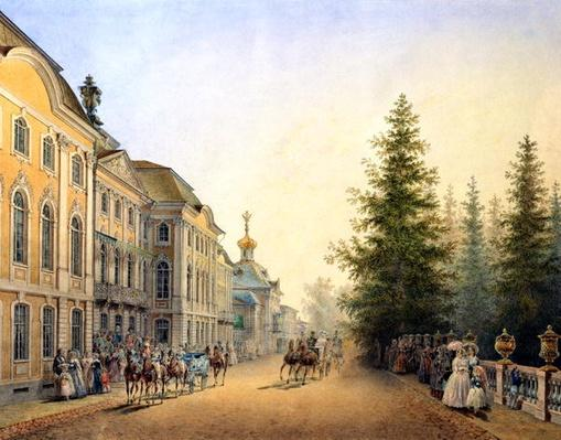 Court Departure at the Main Entrance of the Great Palace, 1852