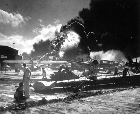 Pearl Harbor: USS Shaw Explodes | Ken Burns: The War