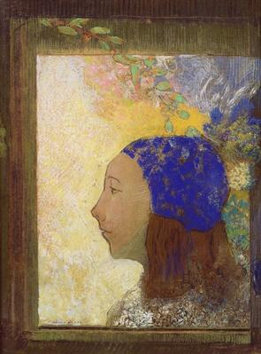 Young Girl in a Blue Bonnet, after 1890