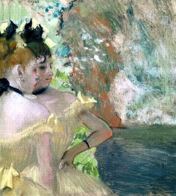 Dancers in the Wings by Degas, Edgar (1834-1917)
